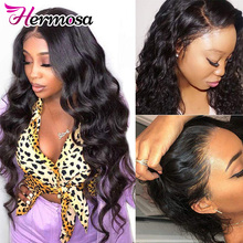 Human-Hair-Wigs Front-Wigs Hermosa Body-Wave Pre-Plucked Brazilian HD with 8-34 13x4/13x6-Lace