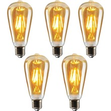 Edison St64 Filament Light Rustic 4W Led Bulb 5'li Decorative Vintage Lighting decorative led home type bulb high quality elegant image