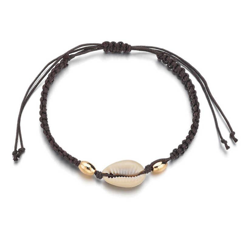 Женские браслеты для щиколотки в виде ракушки бижутерия для ног Летний Пляжный браслет со ступнями ног лодыжки на ноге ремешок на лодыжке Богемные аксессуары