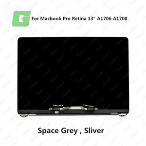 Grey A1706 Full LCD Display Screen Assembly For Macbook Pro A1706 LCD Screen Display Replacement2016 2017 year