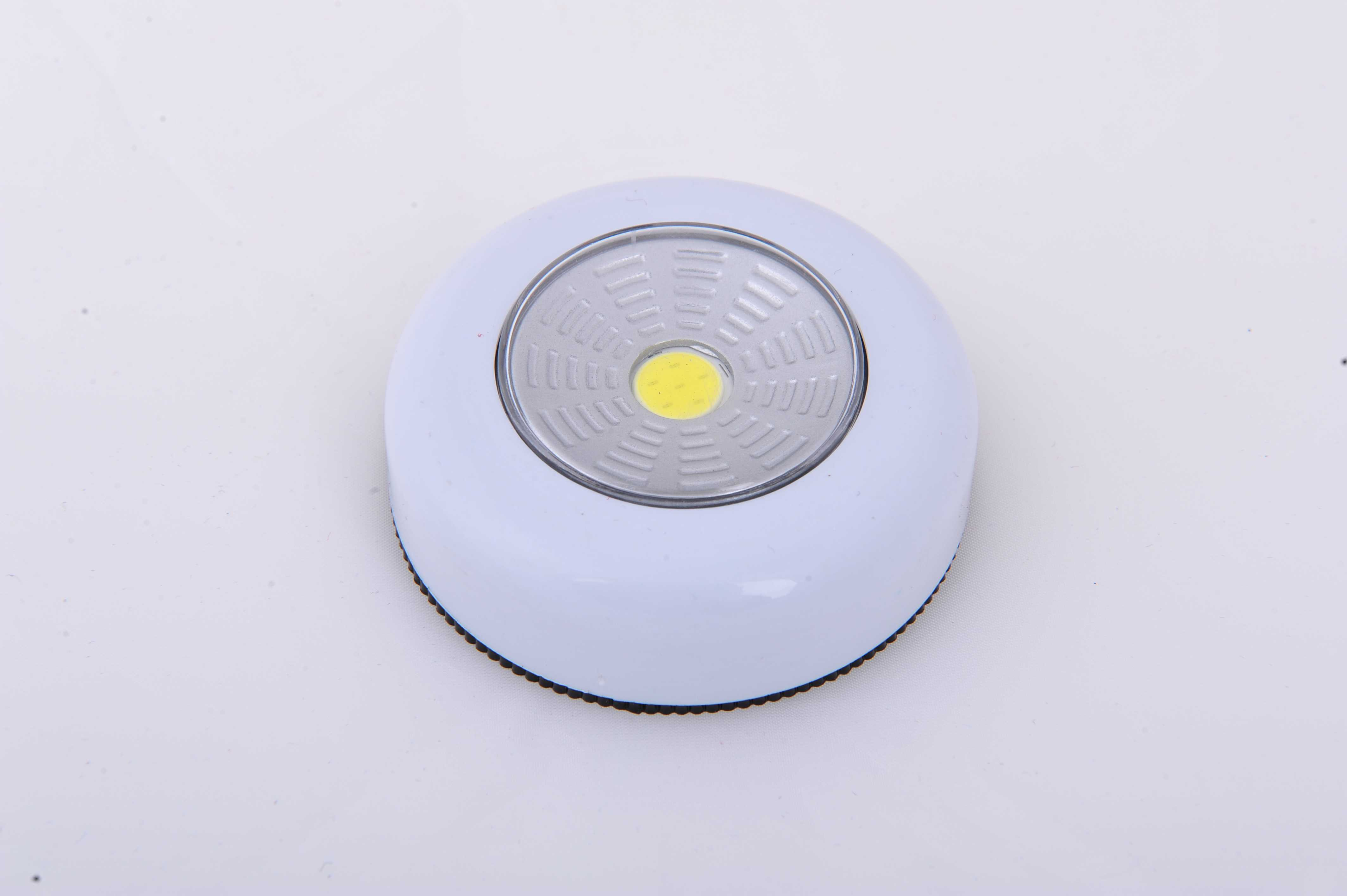 COB светодиодный сенсорный светильник для шкафа с питанием от батареи Ночник кухонный шкаф лампа-кнопка для шкафа