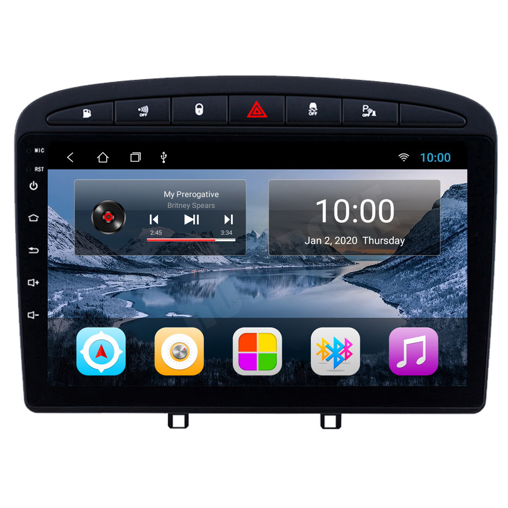 RoverOne Syst/ème Android Autoradio GPS pour Citroen C4 2011 2012 2013 2014 2015 avec Multim/édia St/ér/éo Navigation DSP Bluetooth Mirror Link
