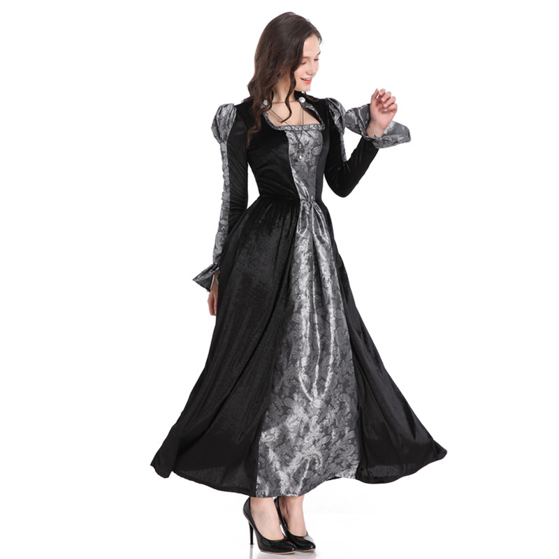 Womens Halloween Vampire Costume Adult Witch Cosplay Ghost Bride Fancy Dress