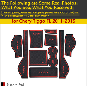 Image 2 - Anti Slip Rubber Cup Cushion Door Groove Mat for Chery Tiggo FL T11 facelift 2011~2015 2012 2013 2014 Accessories mat for phone