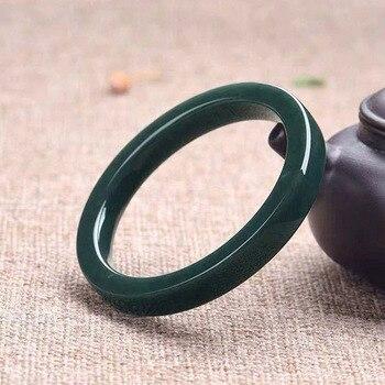 Envío Directo, pulseras de Jade Natural XinJiang, brazaletes de Jade Hetian para mujeres, regalos de compromiso, baile y fiesta