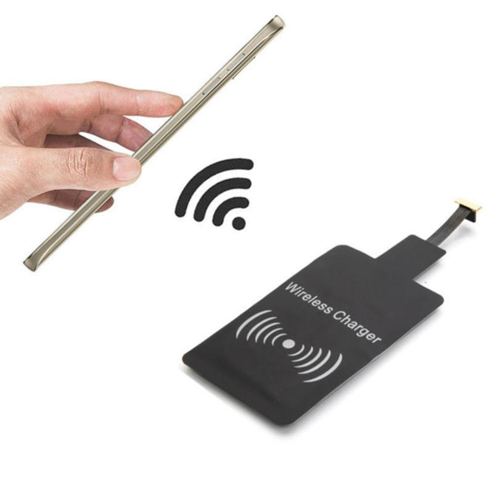 CinkeyPro QI Wireless Charger Receiver Micro USB Type C for iPhone Samsung Type-C 5V/1A Charging Adapter Universal image