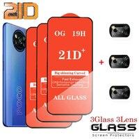 Vetro temperato 21D 6 in 1 per Xiaomi Mi Poco X3 Pro F3 M3 proteggi schermo per Redmi Note 10 9 Pro 10S 9S 9T 8T 9A 8A 7A vetro