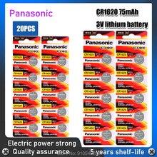 Panasonic Bateria De Lítio De Qualidade Superior 20 Pçs/lote CR1620 3V Li-ion Botão Coin Baterias Para Chave Do Carro Relógio GPCR