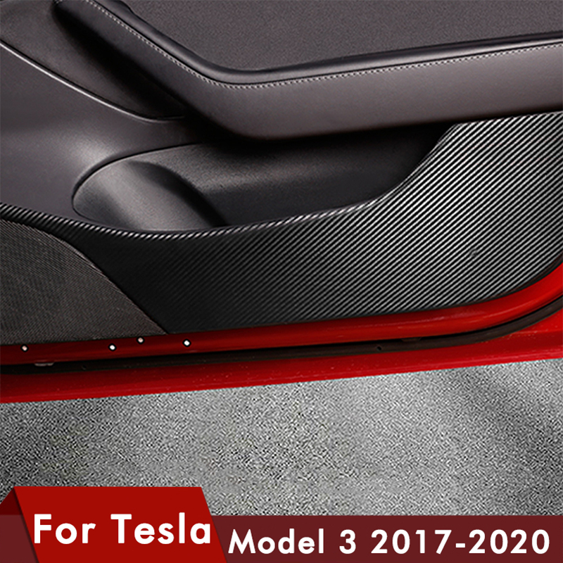 For Tesla Model 3 Door Protection 2017-2020 Invisible Car Door Anti Kick Pad Protection Side Edge Film Protector Stickers Model3