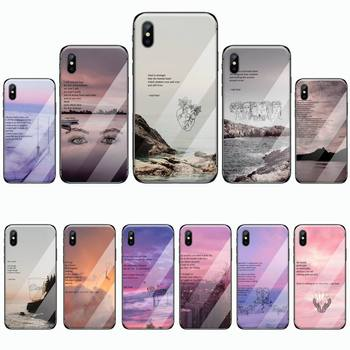 Rupi Kaur Beach Sea Mountain Lines Art Phone Case Tempered glass For iphone 5C 6 6S 7 8 plus X XS XR 11 PRO MAX image