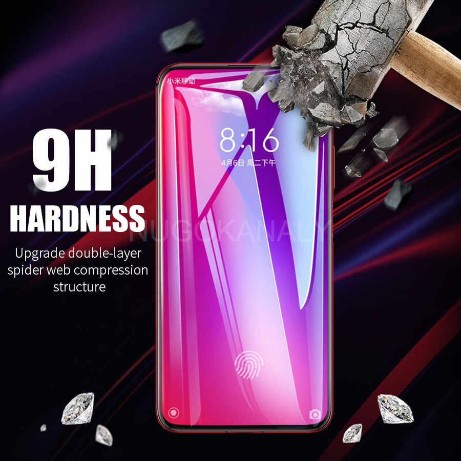 6D غطاء الغراء الكامل الزجاج المقسى ل شاومي Redmi K20 نوت 8 7 برو حامي الشاشة فيلم ل شاومي Mi 9T برو 9 SE 8 لايت