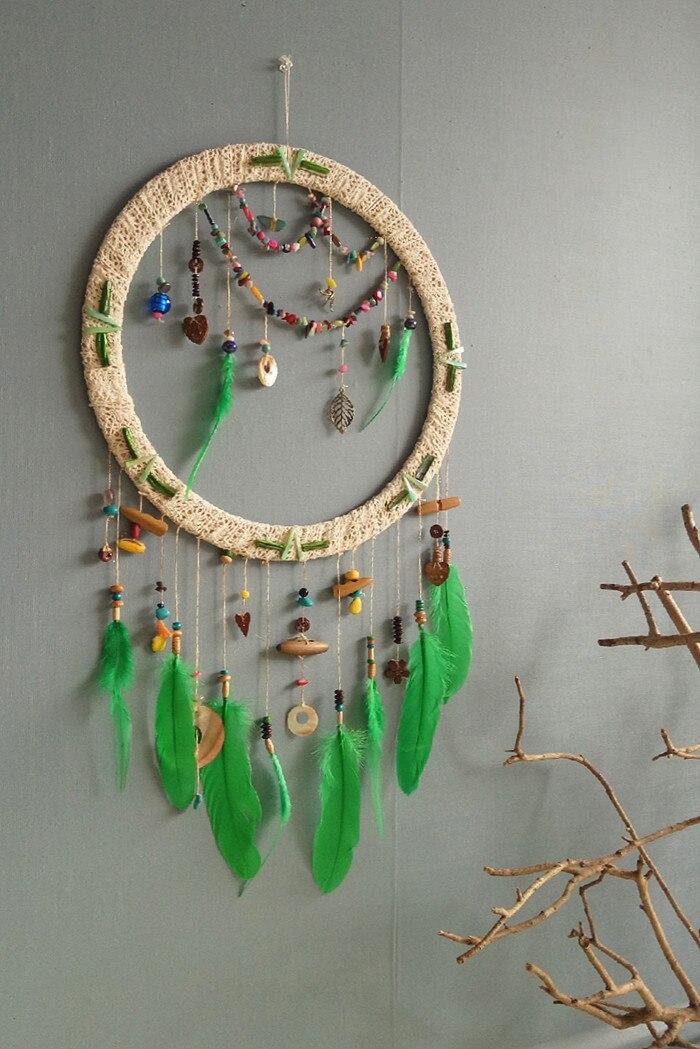 Один кусок ручной работы Ловец снов перо свадебное украшение подарок 40*75 см - 3