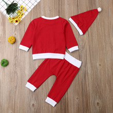 Kids Baby Girl Boy Christmas Long Sleeve Cartoon Outfit Set