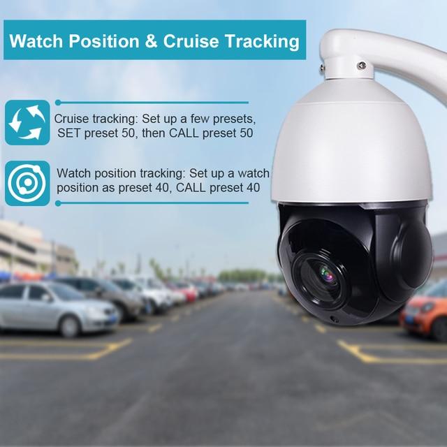 5MP CCTV Surveillance AI Humanoid Auto Tracking PTZ Camera 2MP POE Two Way Audio 30X Zoom H.265 Outdoor IP Camera IR 80M ONVIF