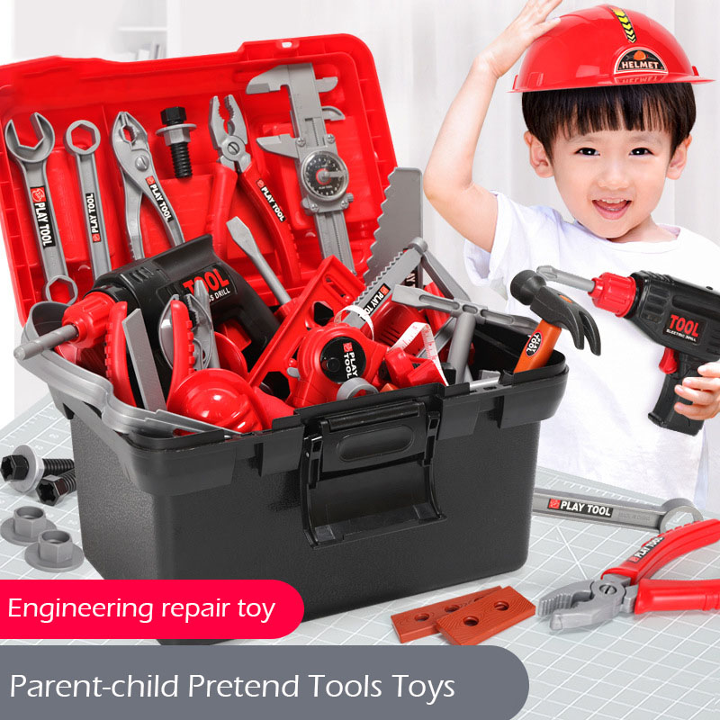 Children Repair Tools Toys ABS Safety Simulation Electric Drill Screwdriver Disassembly Pretend Tools Toys Education Kids Toys
