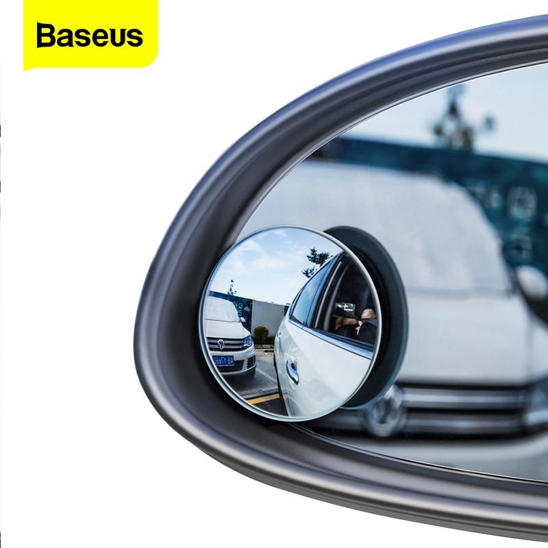 Baseus 2Pcs Blind Spot Convex Mirror For Car HD Round Anti Fog Rear View Mirror Universal Wide Angle Convex Rimless Car Mirror