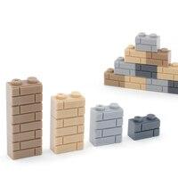 400 adet DIY yapı taşları duvar rakamlar tuğla 1x2 nokta eğitici yaratıcı oyuncaklar çocuklar için uyumlu markalar