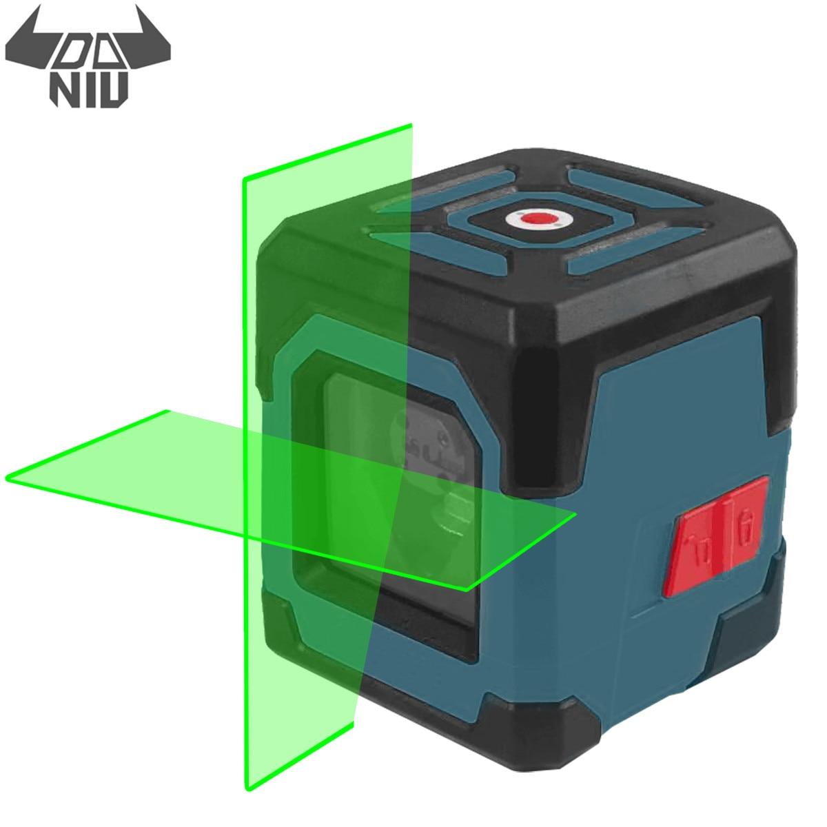 DANIU LV1G лазерный уровень зеленый крест линия лазер с дальностью измерения 50 футов, самонивелирующийся вертикальный и горизонтальный лазерны...