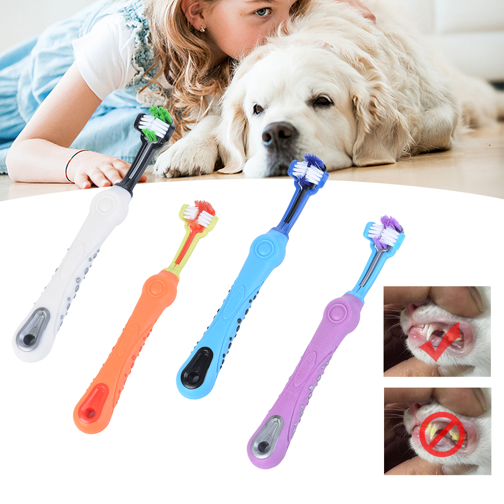 PAPASGIX Pet Dog Toothbrush Multi-angle Cleaning Tooth Teeth Care Tool Brush For Dog Cat Cleaning Supplies