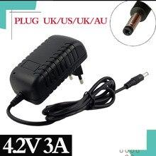 4.2V 3A Hoge Kwaliteit Lader 5.5*2.1Mm Ac Dc Power Adapter Oplader 1 Serie 4.2V 3.7V 3.6V 18650 Lithium Ion Lithium Batterij