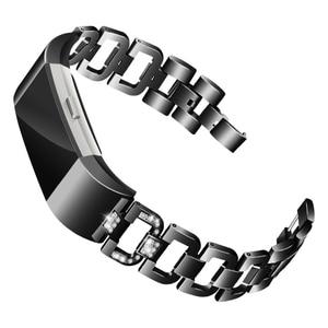 Image 2 - OULUCCI יהלומים עבור Fitbit תשלום 3 להקת מתכת רצועת נירוסטה ReplaceableFor fitbit תשלום 3 צמיד נשים