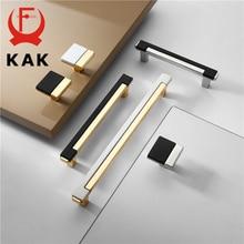 KAK Modern Gold Chrome Kitchen Handle Cabinet Knobs and Handles Fashion Drawer Knobs Pulls Furniture Handle Door Hardware