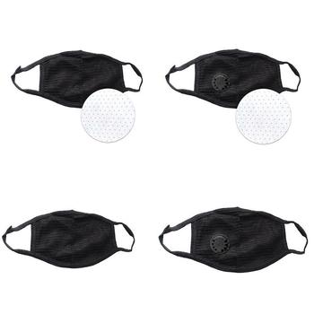 Reusable Cotton Yarn Balck Face Mouth Mask Anti Dust Mask With Windproof Mouth-muffle Bacteria Proof Flu Face Masks Care