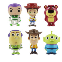 Toy 4 Movie Child Buzz Lightyear Woody Alien Action Figures Collectible Model Toys For Children