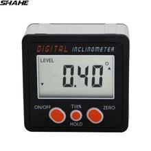 חדש אלומיניום הקף אלקטרוני מד זוית Inclinometer פוע תיבת זווית רמת מגנט בתוך דיגיטלי inclinometer זווית