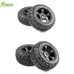 Knobby Front and Rear Wheel Tyre Assembly Kit Fit for 1/5 HPI ROFUN BAHA ROVAN KM BAJA 5B RC CAR Toys PARTS