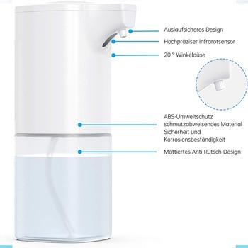 Automatic Soap Dispenser Foam 350ml Automatic Disinfection Dispenser Electric Soap Dispenser with Sensor Touchless Dispenser ftr 118c automatic label dispenser with counter 1 sensor 6 digit led label 3 100mm wide 4 180mm long