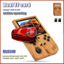 RG351V Retro Game Console Built-in 50000+ Games Support 26 Languages Dual Card Handheld Game Console Emulator for PS1 PSP N64 DC