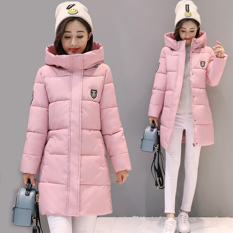 Winter women Jackets 2019 Winter Long Warm Thicken Cotton Padded hooded Down   Parkas   Female Top snow wear Clothing Coat