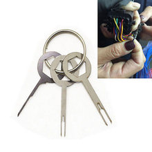 Set Car Terminal Removal Pack Stainless Steel 3pcs Wire Electrical Wiring Crimp Connector Accessories(China)