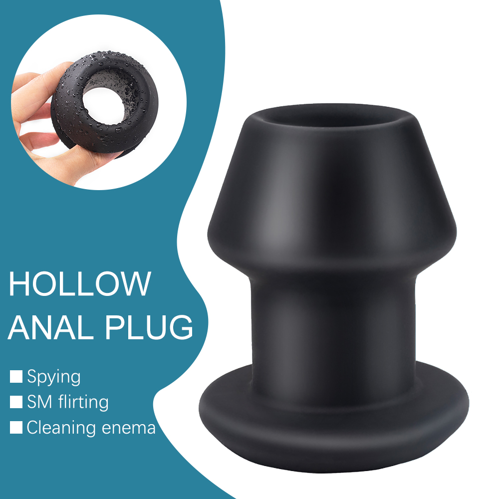 Huge Anal Plug Silicone Hollow Prostate Massager In Sex Shop Vaginal Dilator Anus Speculum Large Butt Plug Hollow Anal Expander