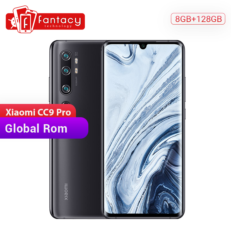 In Stock Global Rom Xiaomi Mi CC9 Pro 8GB 128GB Snapdragon Smartphone 730G 108MP Penta Cameras 6.47 AMOLED Curved Screen 5260mAh