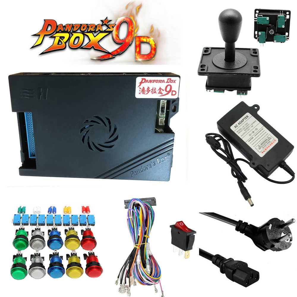 Nouvelle Version kit d'arcade avec boîte de Pandora 3D originale 9D PCB 2500 en 1 carte joystick Happ bouton pour bricolage Machine de jeu d'arcade