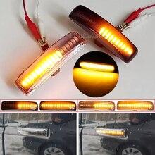 2x Amber Dynamic LED Front Side Marker Turn Signal Light Lamp For Land Rover Range Rover Sport L320 Discovery 3/4 Freelander 2