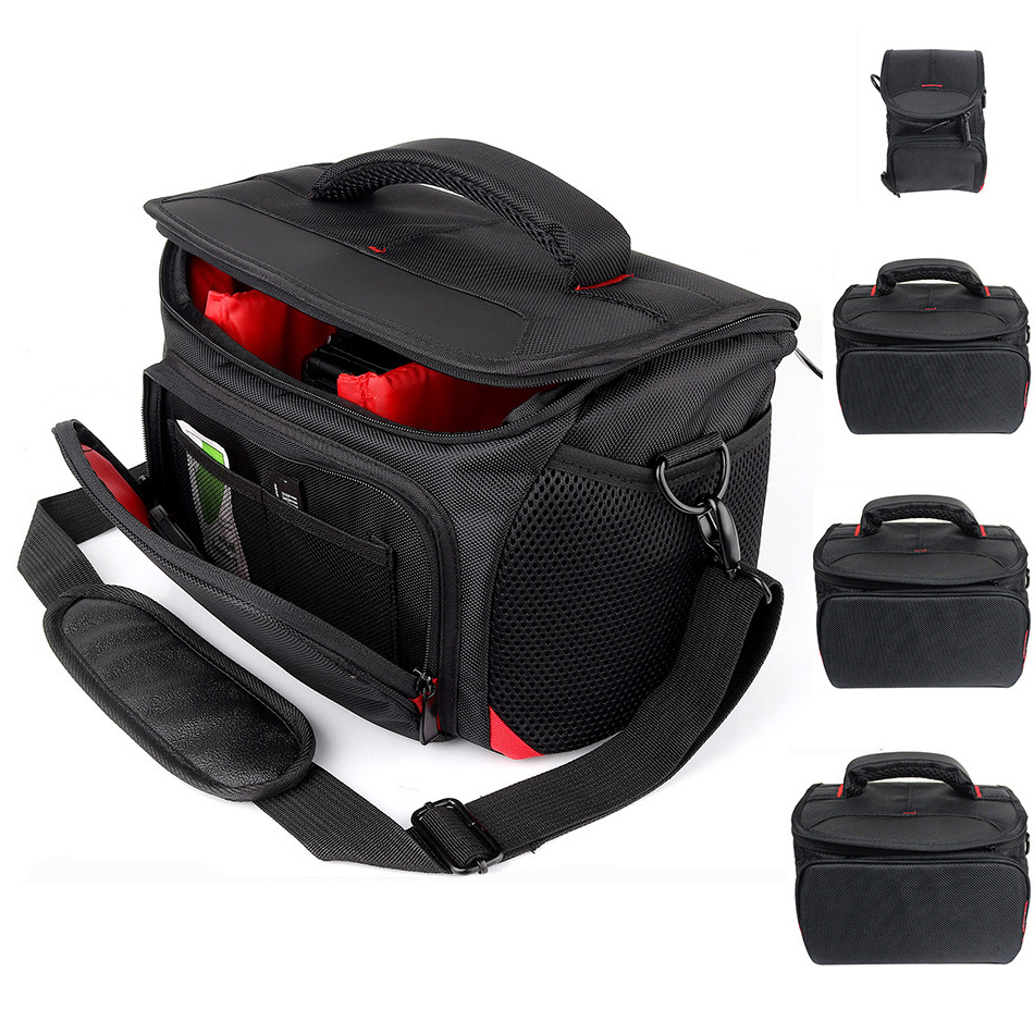 DSLR Camera Bag Backpack Nylon Shoulder Bag Insert SLR Handbag Waterproof Photography Photo Case For Canon Nikon Sony Lens Pouch