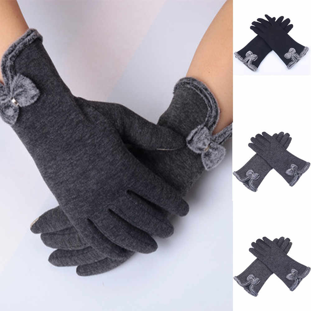 New Brand High Quality Men Winter Cotton Wool Women Fashion Fluffy Winter Warm Full Finger Hand Gloves Ski Wind Protect Hands
