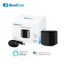 Broadlink rm4 pro/bestcon rm4c mini automação residencial inteligente wifi ir rf controle remoto inteligente universal trabalho com alexa