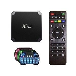 Image 2 - X96 mini Android 7.1 TV BOX 2GB 16GB Amlogic S905W Quad Core 2.4GHz WiFi Media Player 1GB 8GB X96mini Set top Box with IR Cable