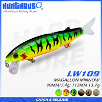 Hunthouse magallon 113&90mm jointed bait soft tail minnow lure noeby lure diving new products Promotion