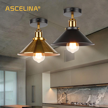 ASCELINA LED Industrial Ceiling Lamp Vintage Chandelier Retro Attic Interior Lighting American Country Restaurant Bedroom Lights