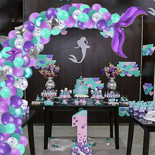 42Pcs Mermaid Balloon Arch Set Mermaid Tail Balloon Little Mermaid Party Decorations Supplies Wedding Girl Birthday Party Decor little mermaid party supplies mermaid theme birthday decor mermaid banner balloon for kids favors wedding party decorations