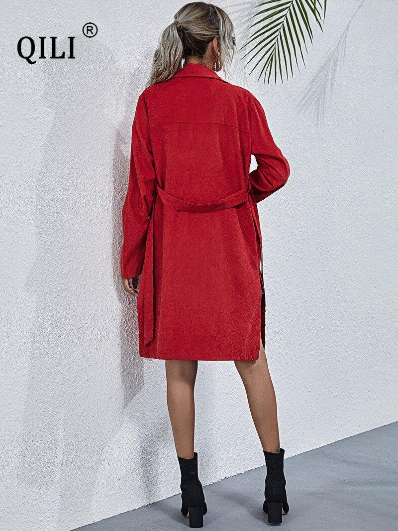 Купить qili женское платье tutm down с воротником трикотажное рукавами