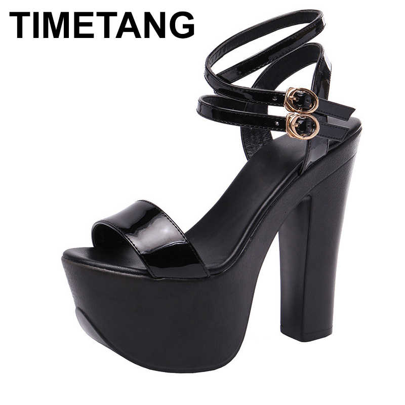 TIMETANGExtreme ハイヒールサンダル 14 センチメートル女性ヒールプラットフォームサンダル結婚式の靴の金 Silver2019Summer ブロックパーティーレディースモデル