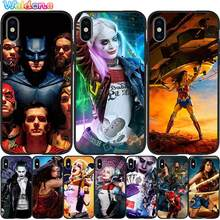 DC Comics Wonder Woman Batman Black Phone Case For iPhone 11 Pro Max XS Max XR X 8 7 6S Plus 5S silicone Phone case Cover Etui(China)