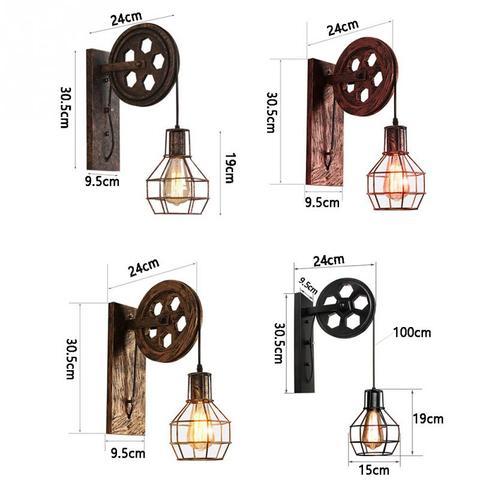 lampada de parede polia levantamento casa corredor