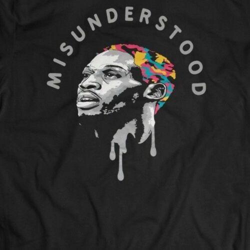 Dennis Rodman Misunderstood Custom Rare Design *Full Front Of Shirt**Many Sizes